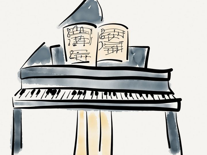 Grand Piano - Jerry Fess Art