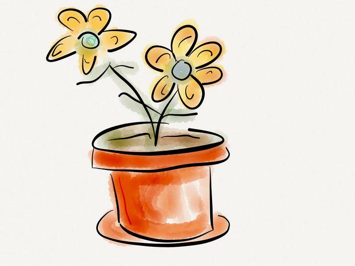 Flower pot - Jerry Fess Art