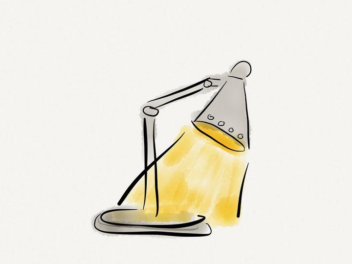Desk lamp - Jerry Fess Art