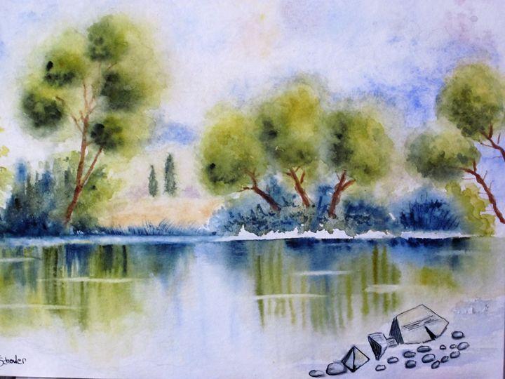 Reflets sur le lac - isalix