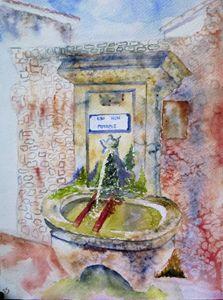 Sur la place de la fontaine