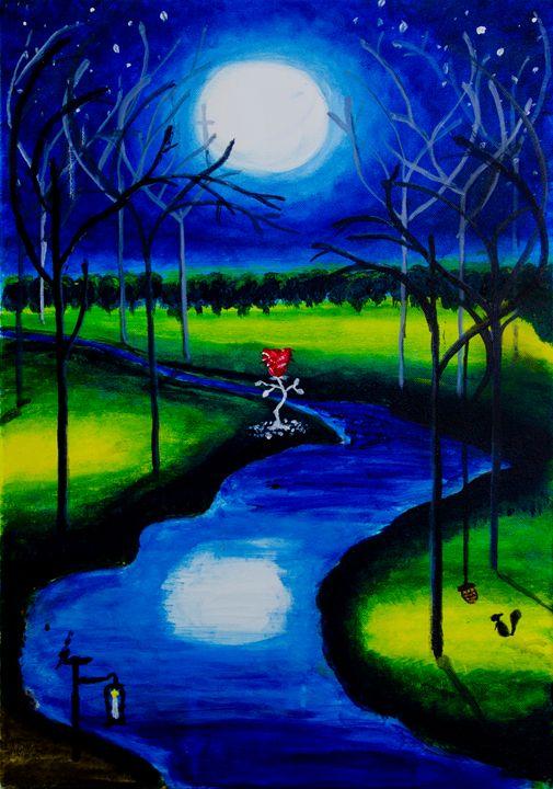 Moonshine on ice rose - Krystal's Art