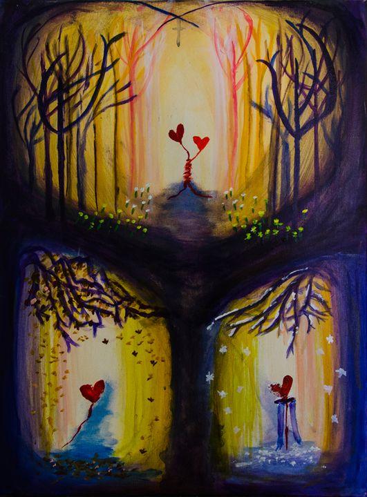 Autumn meets Winter - Krystal's Art