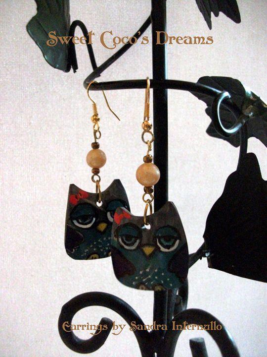 Owl Handmade Earrings - Sandra