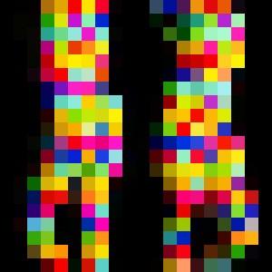 Colorful Woman - Man Art