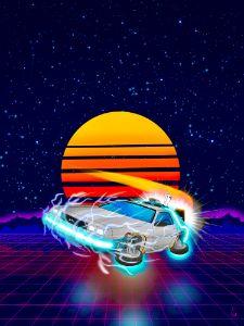 80s New Wave DeLorean
