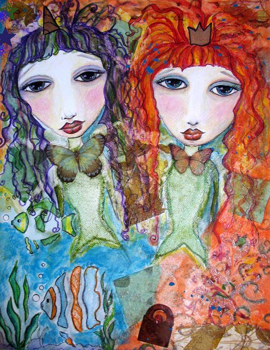 Guppy Mermaid Girls sisters forever - StudioWildFae