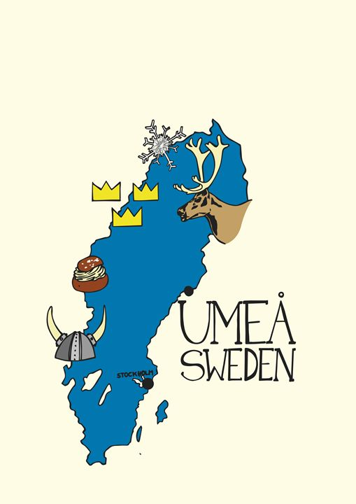 Umeå Map - Jonne Art