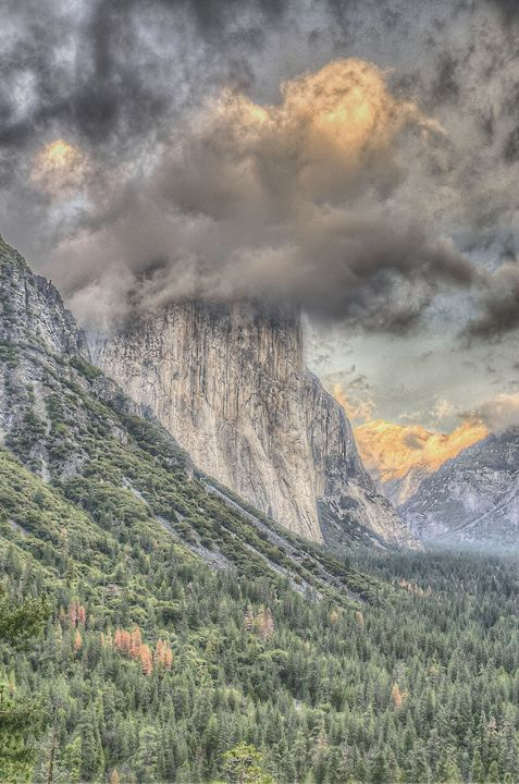 Clouds in Yosemite - Life is a Highway Photo
