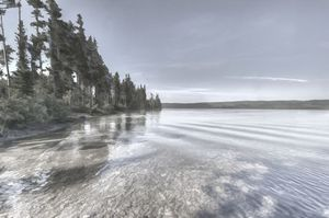Lake in Yellowstone - Life is a Highway Photo