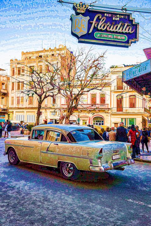 55 Chevy Cuba LaFloridita - Life is a Highway Photo