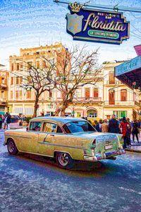 55 Chevy Cuba LaFloridita