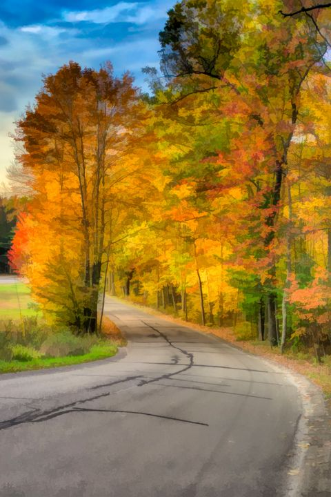 Fall Road Paint effect - Life is a Highway Photo