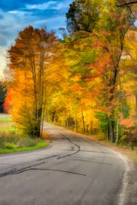 Fall Road Paint effect
