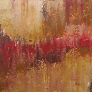 Untitled with Red - Paintings by Joseph Piccillo