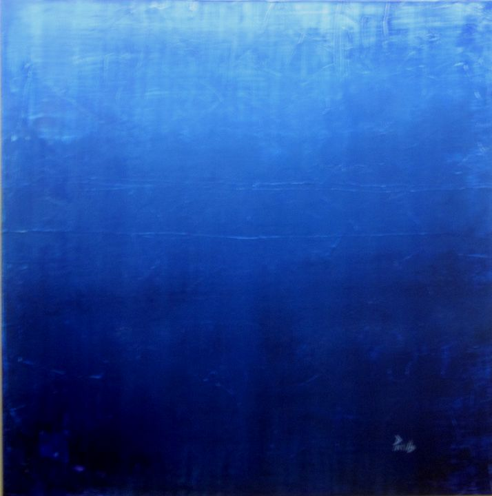 Blue #2 Medeterranean - Paintings by Joseph Piccillo