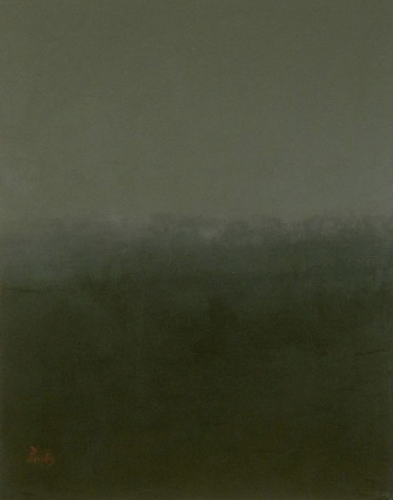 Black #2 with grey - Paintings by Joseph Piccillo