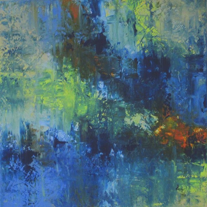 L'acqua Blu SOLD - Paintings by Joseph Piccillo