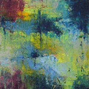 L'acqua Blu #2 - Paintings by Joseph Piccillo