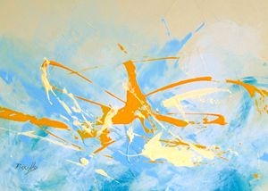 Yellow Dragonfly - Paintings by Joseph Piccillo