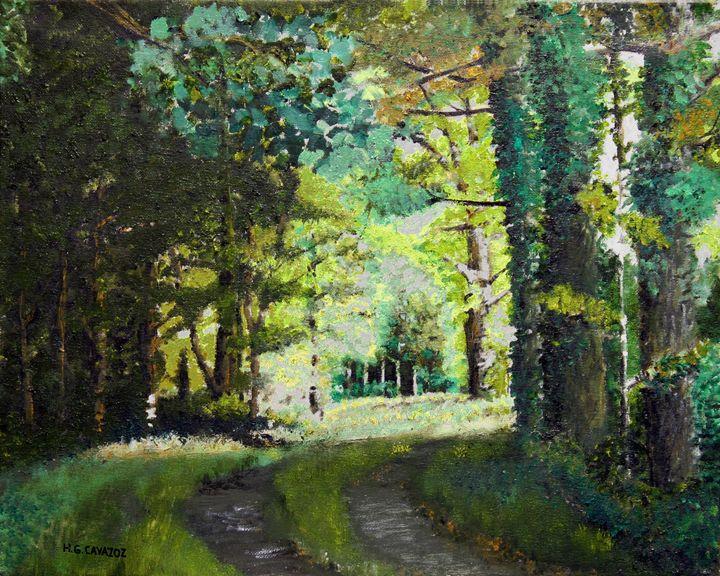 Green Forest Back Lite - HGCavazoz.ArtPal.com