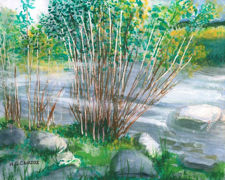 Green River Fishing 2 - HGCavazoz.ArtPal.com