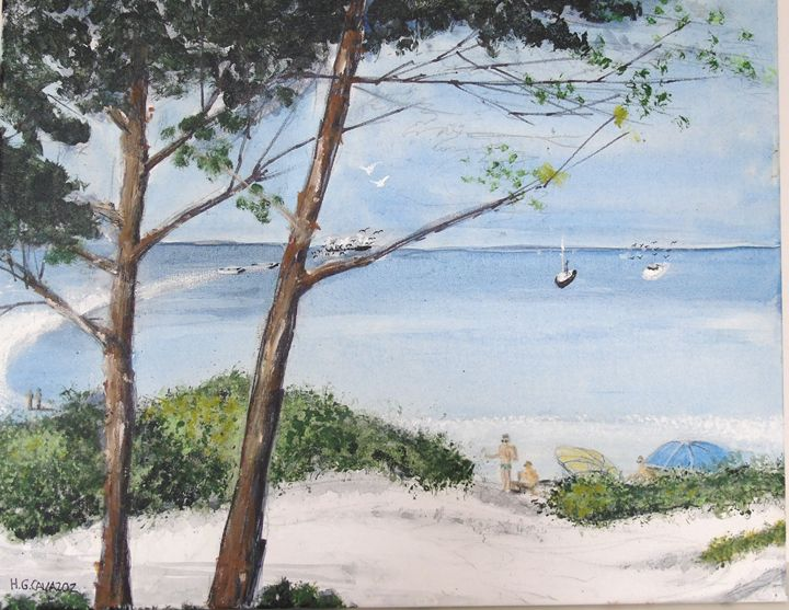 Salty Dunes and Sea - HGCavazoz.ArtPal.com