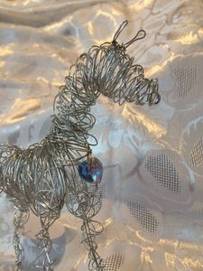 Blue Heart Wire Pony