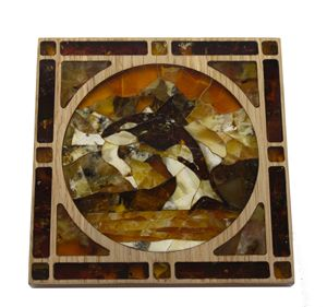 Natural amber mosaic, hand made