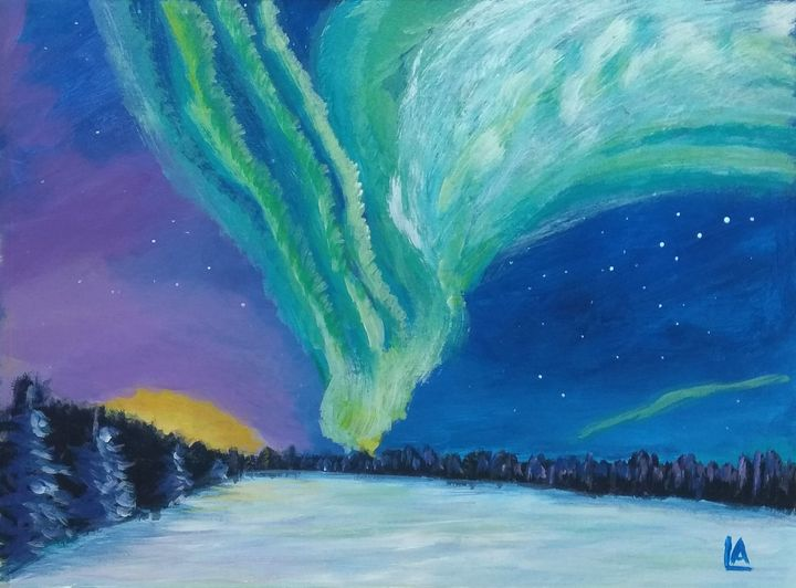 The northern light. - AnnaannaArt