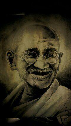 Mahatma Gandhi Pencil Art - J.P.T.Lakshan