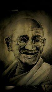 Mahatma Gandhi Pencil Art