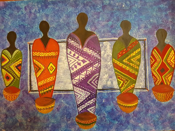 African Women in colorful dress. -  Guptabulbul2011
