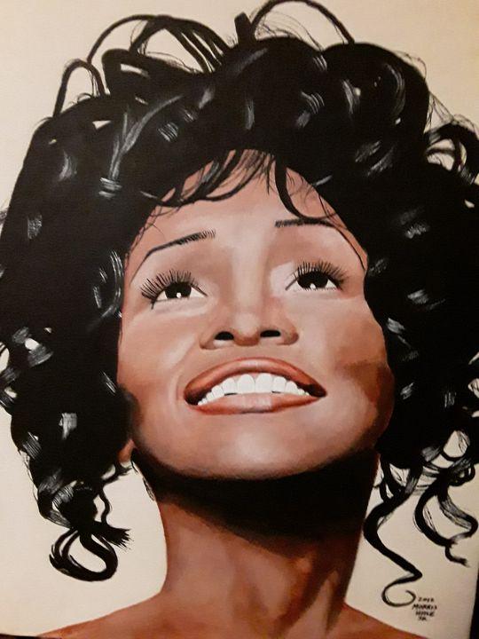 Whitney Houston portrait. - Emotional Senses