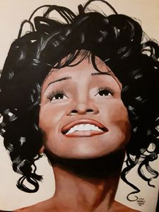 Whitney Houston portrait.