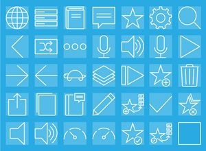Linear Style Icons for a Phrasebook