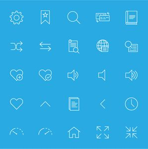 Linear Icons for a Dictionary app