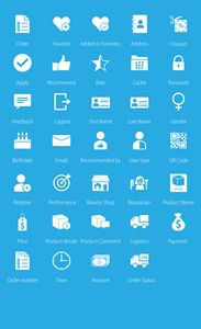 Icons for an Ecommerce Site