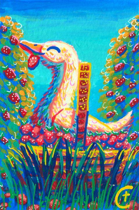Duck in a Basket - CT Artistry