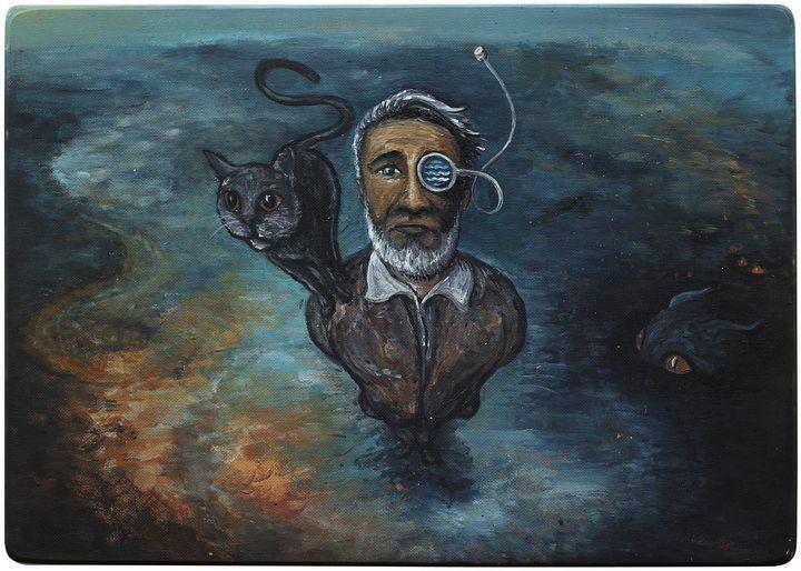 Black cat and gray cat - Joahym DeArt