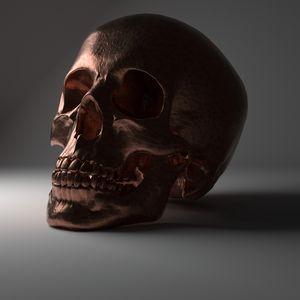 Hammered Copper Skull