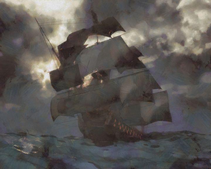 HMS Victory - Woolstanwood Digital Art