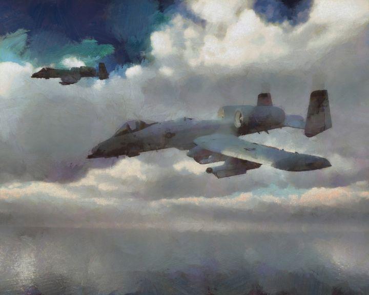 A10 Thunderbolt II - Woolstanwood Digital Art
