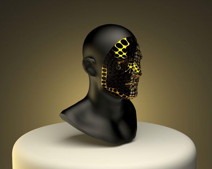 Gold Face - Woolstanwood Digital Art