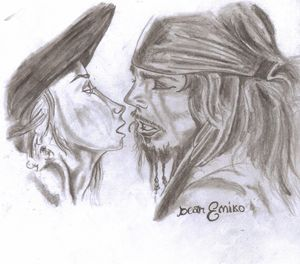 Captain Sparrow and Elizabeth