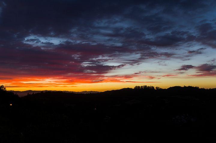 Beautiful sunset over Santa Rosa CA - Bob Corson Photography