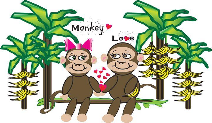 monkey love - Monica de la nuez