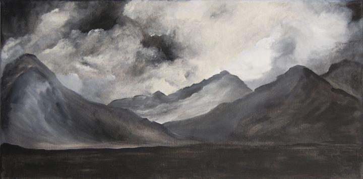 Mountains in Black & White - Kim's Avant Art
