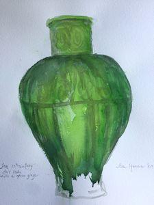 Jar, 13th c.,  green glaze