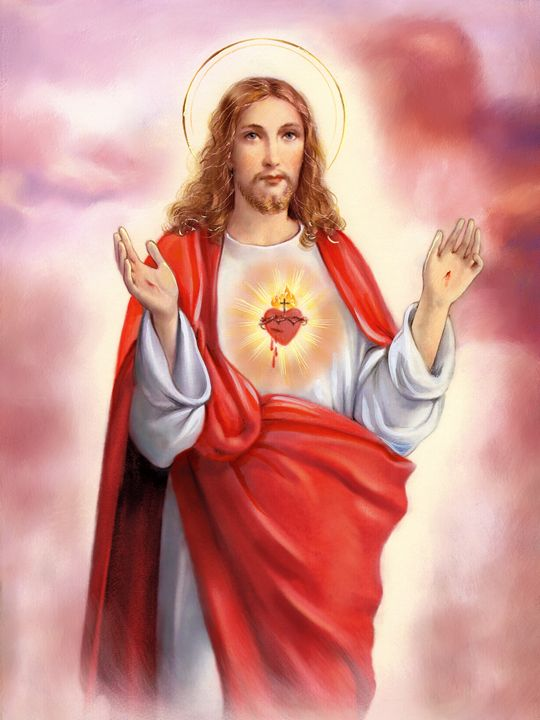 1d2a0e7e7c Sacred Heart of Jesus - ArtHouseDesign - Drawings   Illustration ...
